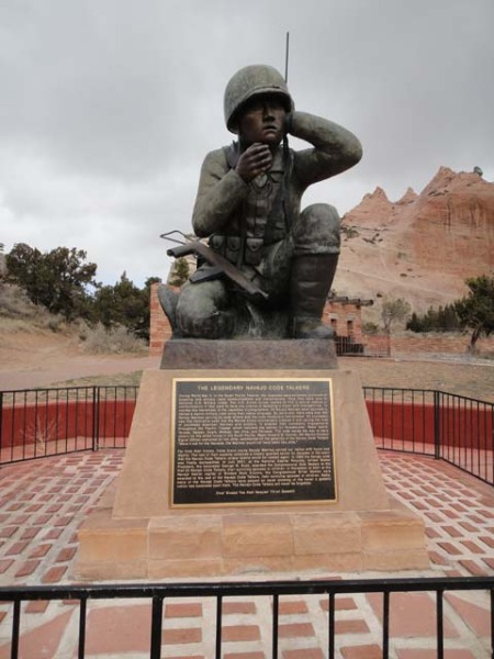 Navajo Code Talker memorial, Window Rock, Arizona.