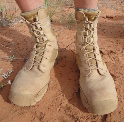 OTB DesertLite boots. Photo by Gerrald Trainor.