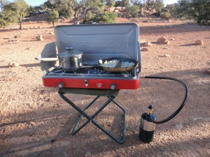 Primus stove in action. Photo by Gerald Trainor.