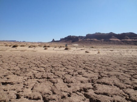 Silt plain that was once Lake Powell. Photo by Gerald Trainor.