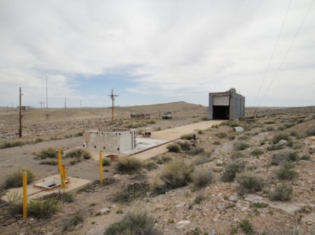 Missile launch pad near Green River, Utah. Photo by Gerald Trainor.