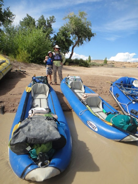 Aire duckies ready to go on the San Juan river. Photo by Gerald Trainor