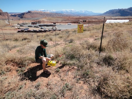 Nicolai conducting survey near Moab. Photo by Gerald Trainor.
