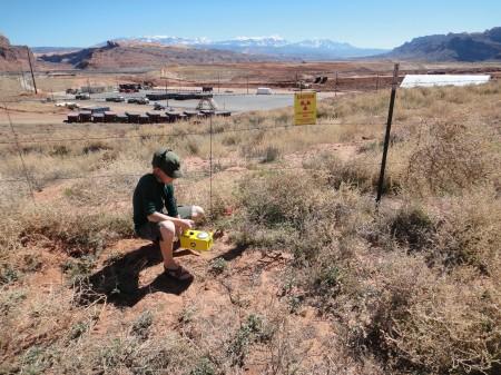 Nicolai conducting survey near Moab. Photo by Gerald Trainor.