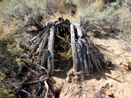 Sweat lodge along Comb Ridge, Utah. Photo by Gerald Trainor.