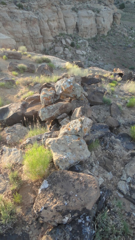 Stone alignment near Nancy Patterson Village, southern Utah. Photo by Gerald trainor.