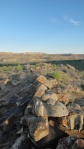 stone alignment near Sprit Bird Cave, southern Utah. Photo by Gerald Trainor